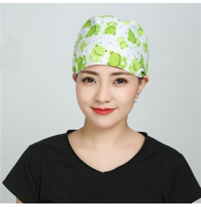 Nurse Operating Room Cap for women Doctor Cap Children's Hospital Obstetrics and Gynecology Cotton Printed Cap Sleeping Cap