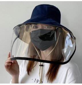 outdoor Anti-spitting virus fisherman hat with face shield for women full face cover sun cap bucket hat