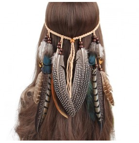 Peacock Feather Hairband Indian dance Bohemian Fashion Hippie Hair Accessories Ethnic Style Headdress