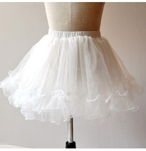 princess dress petticoat for kids stage performance ballet dress under skirt children's half-length boneless pettiskirt wedding dress under skirt