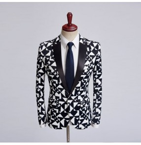 Printed fashion singers jazz performance blazers competition host chorus professional ds night club cosplay coats