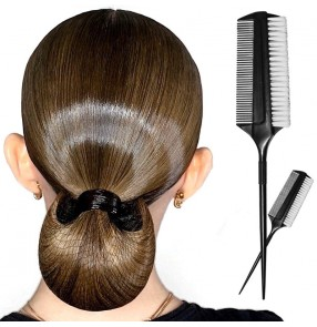 Professional Latin dance comb competition ballroom latin dance professional oil head style high dense hair comb