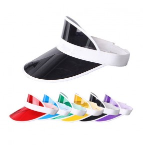 PVC clear candy color sun protection visor cap for women and men