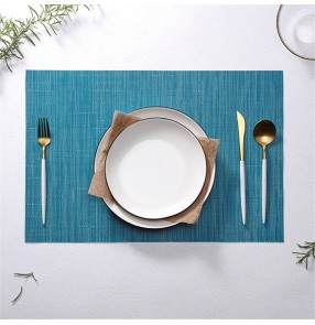 Pvc Western Placemat Heat insulation and anti-scalding Nordic hotel restaurant bamboo pattern student table mat