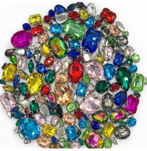 Rainbow crystal craw hand sewn stones for competition latin ballroom dance dresses wedding dress diamond accessroies for bag shoes garment
