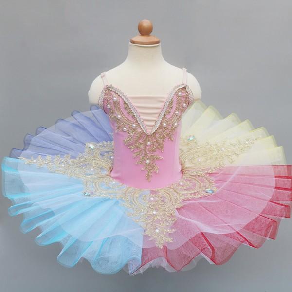 Kids Adults Tutu Skirt Professional Ballet Dancewear Diamond Pearl Dance Dress