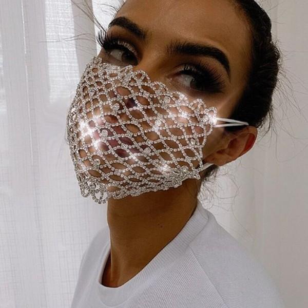 Belly dancer face mask