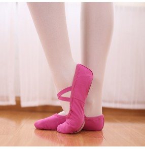 Rose red children canvas ballet dance shoes Soft-soled cat claw exercise training shoes women ballet modern dance shoes Yoga dancing shoes