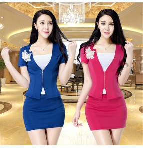 Sauna foot bath technician uniforms tops and skirts for female foot massage shop bathing massage work clothes suits women work overalls