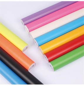 Self Adhesive pvc colorful Wallpaper Furniture Decorative Film Waterproof Shiny Wall Stickers DIY Gift Box Packaging Home Decoration