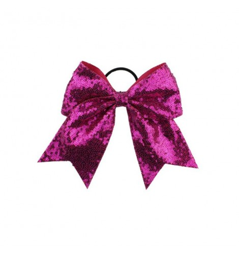 Sequin Large Hair Bows Hair Band For Cheer Leading Girls Hair