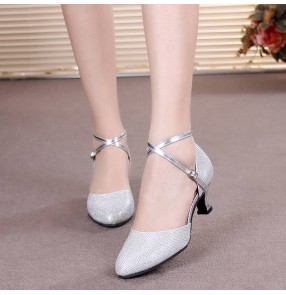 Silver gold purple Latin dance shoes female adult dance shoes soft-soled square dance dance shoes cha cha social modern ballroom dancing shoes