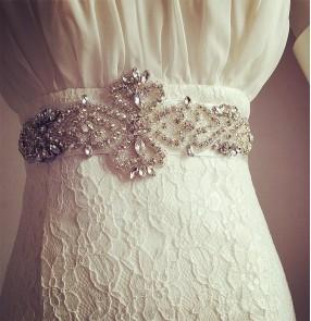 Silver white ivory black wine red  bridal women's dance dress wedding evening party crystal rhinestones ribbon waist band sashes