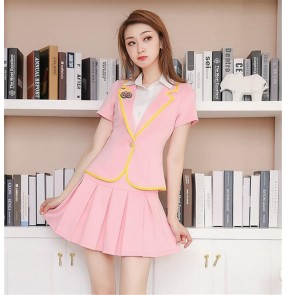Stewardess uniform professional suit spa work clothes student drama cosplay uniforms foot bath technician work clothes