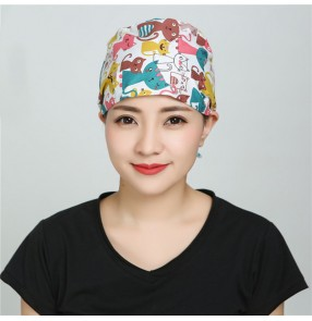 Surgical cap home hygiene chef kitchen cooking dustproof fume hat turban night cap female doctor hat