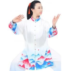 Tai chi clothes chinese kung fu uniforms for women cloud dragon pattern chinese tai ji quan clothes wushu martial art performance clothes