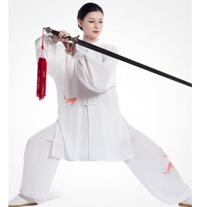 Taichi wushu kungfu uniforms for women and men summer competition martial art performance clothing costumes