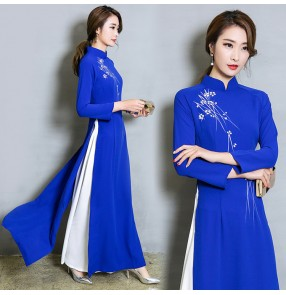 Traditional Chinese qipao dresses for women female cheongsame dress retro style party evening dress