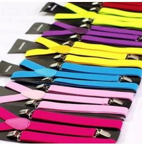 Unisex elastic suspenders belt  for women men Y shap brace strap for pants tuxedo suits