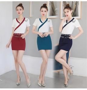 Women Beautician overalls foot bath technician uniforms foot massage shop beauty salon health spa overalls for female