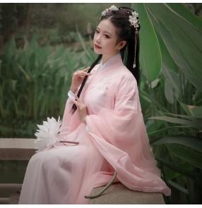 Women chinese folk dance costumes Hanfu drama film cosplay photos chinese ancient style fairy costume princess Hanfu dress Tang suit