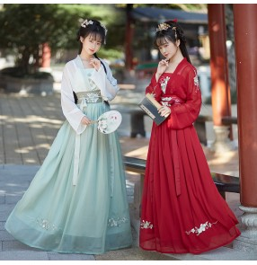 Women chinese Hanfu fairy princess dress han tang ming dynasty robes female Chinese style antique ancient costume fairy kimono dress