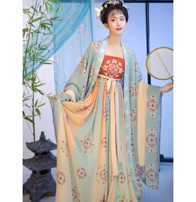 Women Chinese hanfu Tang ming qing dynasty empress cosplay dresses Chinese ancient classical dance costumes photos shooting robes for lady