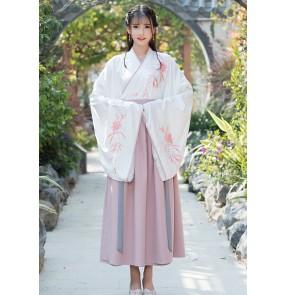 Women chinese hanfu Waist-length ru skirt princess fairy dresses female improved Ming-made chinese han ming qing tang dynasty film cosplay costumes