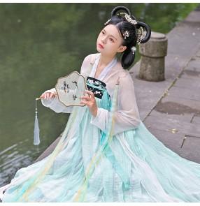 Women girls fairy hanfu dress Antique hair ring streamer headdress long fringed hair ribbon for lady fairy headdress Hanfu Hair Accessories