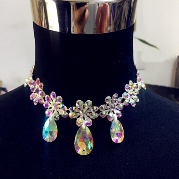 choker dance jewellery Latin Jewellery Ballroom Jewellery Headband /& Necklace set Competition accessory