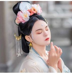 Women Hanfu headwear Song-made corolla take photos fairy empress cosplay hair crown Antique hair accessories catwalk garland performance antique headdress for female