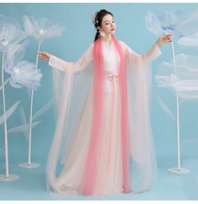 Women's Ancient Chinese Hanfu female Chinese style film cosplay princess fairy dresses ancient style student classical dance performance costume