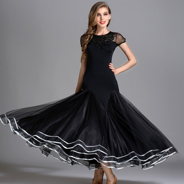7004d5f46 Women's ballroom dance dresses stage performance competition professional waltz  tango dancing dresses