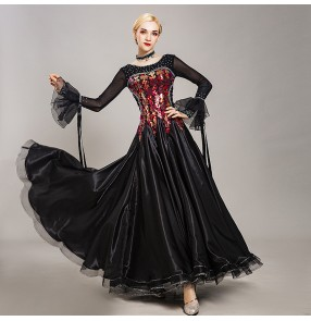 Women's ballroom dancing dresses competition waltz tango dance dresses