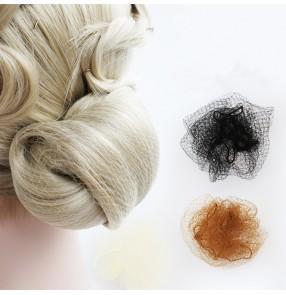 Women's ballroom latin competition performance hair net snood