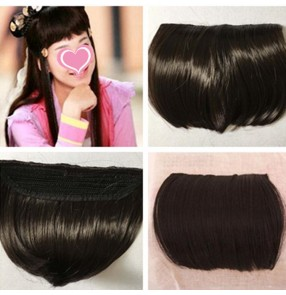 Women's bang hair piece Chinese traditional princess fairy drama dance cosplay hair fringes extension ban hair piece