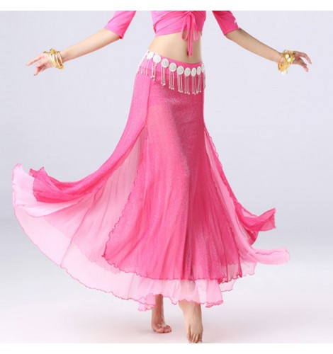 NEW Girl Belly Dance Costume Layers Performances Skirt Dress for beginers