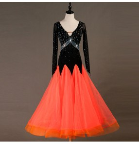 Women's children ballroom dresses stage performance waltz tango chacha dance skirts dresses