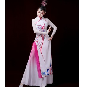 Women's chinese dress qipao dresses fairy cosplay dresses stage performance traditional classical dance dresses costumes