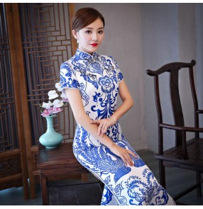 Women's chinese dresses qipao phoenix oriental photos wedding party Ceremonial traditional cheongsam dresses