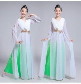 Women's Chinese folk dance costumes china traditional yangge dresses fairy drama cosplay dresses costumes