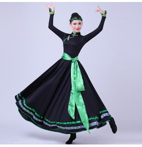 Women's chinese folk dance costumes girls Mongolian stage performance dresses mongolian Performing robes