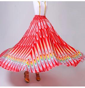 Women's Chinese folk dance costumes Xinjiang ethnic minority Uighur peacock dance skirts