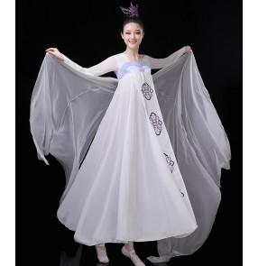 Women's chinese folk dance dresses korean japanese kimono hanfu fairy dresses drama cosplay dresses costumes robes