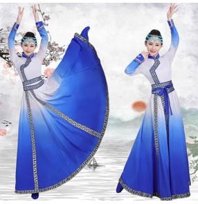 Women's chinese folk Mongolian dance costumes chinese minority stage performance mongolia dance costumes