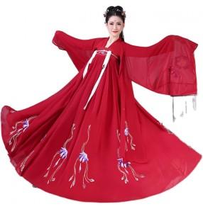 Women's chinese hanfu empress fairy princess film drama cosplay chinese dress stage performance photos shooting kimono dress for female