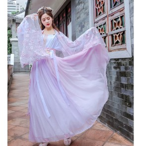 Women's chinese traditional hanfu fairy princess drama cosplay dress photos shooting kimono dress for female
