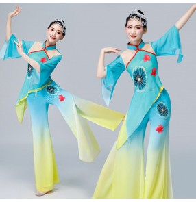 Women's chinese yangko dan dance costumes oriental ancient traditional fairy drama cosplay clothes dresses