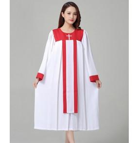 Women's chrisian jesus church choir dresses stage performance prayer dresses recite dresses