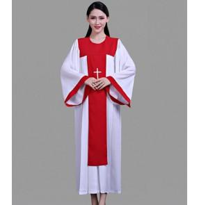 Women's Christian jesus church choir dresses christ church prayer robes chorus recite performing dresses